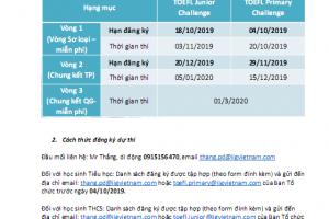 Phát động cuộc thi Toefl Challenge 2019-2020