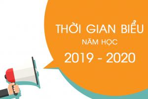 Thông báo: Thời gian biểu năm học 2019 – 2020