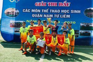 Tiểu học Trung Văn dành cúp vô địch bóng đá nam cấp Tiểu học Quận Nam Từ Liêm mùa giải 2019 – 2020