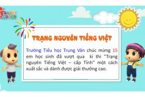 Kết quả thi Trạng Nguyên Tiếng Việt – Cấp Tỉnh năm học 2019-2020
