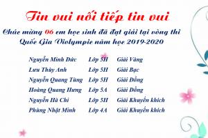 Kết quả thi Violympic – cấp Quốc gia