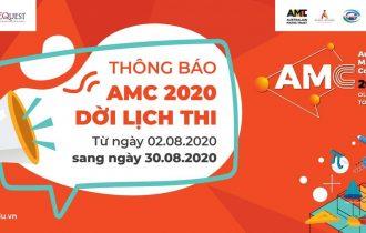 THÔNG BÁO THAY ĐỔI LỊCH THI OLYMPIC TOÁN HỌC ÚC (AMC) 2020