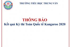 Thông báo kết quả Kỳ thi Toán Quốc tế Kangaroo 2020